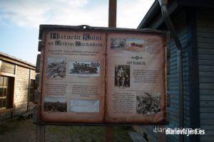 Mrongoville, una aldea del oeste americano en la región de Masuria en Polonia