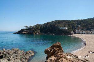 Playa de Sa Riera, otra gran cala en Begur, en la Costa Brava. Que ver en Begur