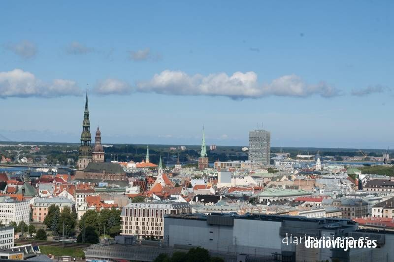 Riga desde las alturas en imágenes
